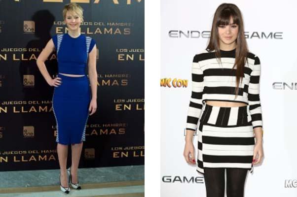 Left: Jennifer Lawrence (Photo: Stylebistro). Right: Hailee Steinfeld (Photo: Stylebistro)