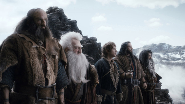 Graham McTavish as Dwalin, left, Ken Stott as Balin, Martin Freeman as Bilbo, Richard Armitage as Thorin and William Kircher as Bifur in a scene from <em>The Hobbit: The Desolation of Smaug</em>. (Photo: Warner Bros.)
