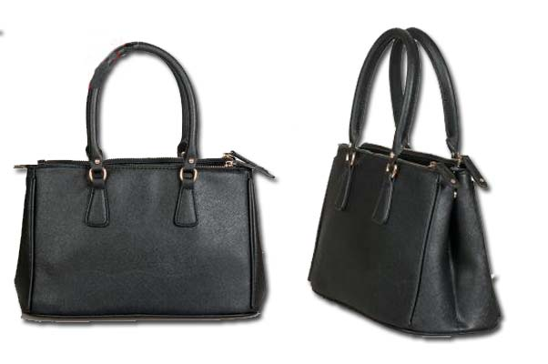 This dark gray leather satchel handbag is sleek and elegant, and makes you stand out in the crowd. (Photo: Kuku Closet)
