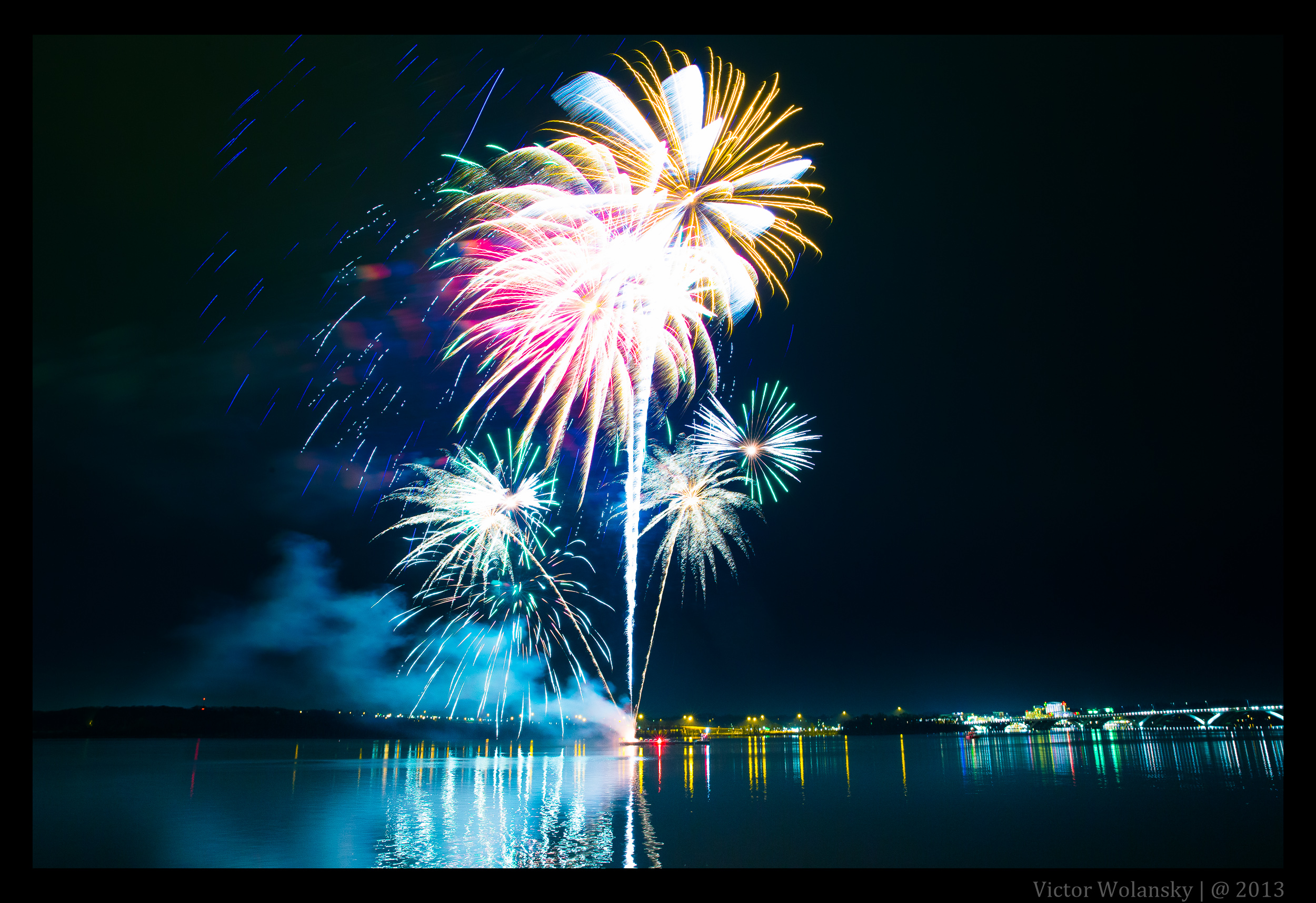 Fireworks over the Alexandria waterfront during First Night Alexandria 2012. (Photo: Victor Wolansky)
