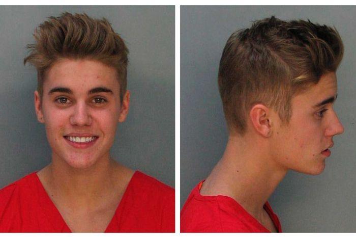 Justin Bieber's smiling mug shot (Photo: Miami-Dade Corrections and Rehabilitation Department)