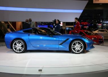 The new 6.2-liter engine, 455 horsepower Chevrolet Corvette Stringray is on display at the 2014 Washington Auto Show. (Photo: Mark Heckathorn/DC on Heels)