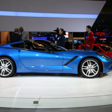 The new 6.2-liter engine, 455 horsepower Chevrolet Corvette Stringray is on display at the 2014 Washington Auto Show. (Photo: Mark Heckathorn/DC on Heels)