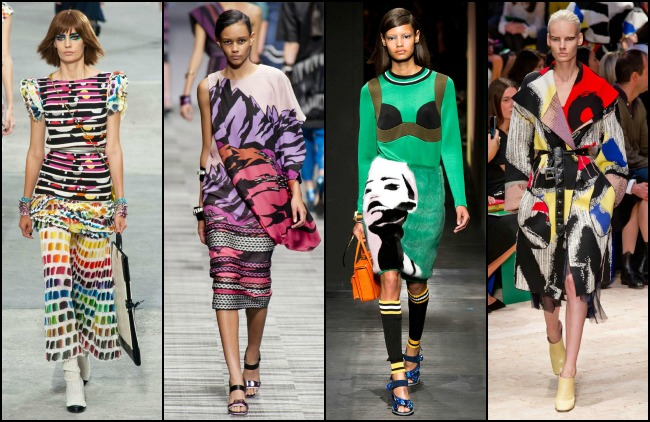 Art-inspired dresses from Chanel, Missoni, Prada, Celine (Photo: Kingston Style)