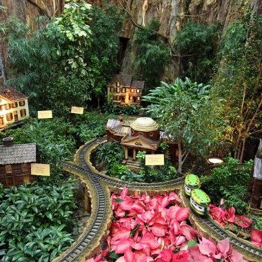 The model railroad displace at the U.S. Botanic Garden. (Photo: dcphotograhper)