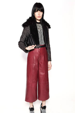 Proenza Schouler leather gaucho wide-leg pants (Photo: Elle)