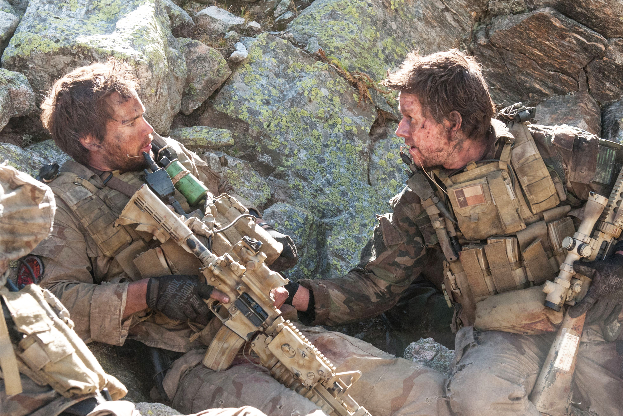 Taylor Kitsch, left, and Mark Wahlberg play Navy SEALs in Lone Survivor. (Photo: Gregory R. Peters/Universal Pictures)