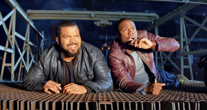 Ice Cube and Kevin Hart star in Ride Along. (Photo: Universal Pictures)