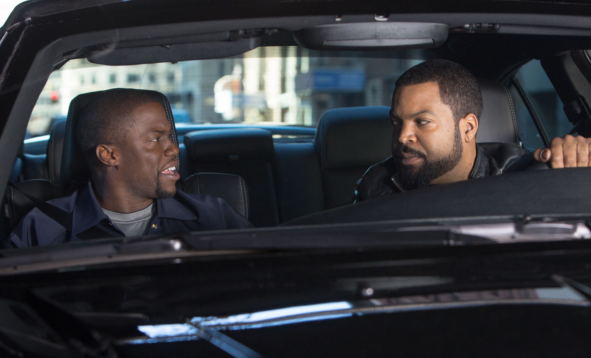 Kevin Hart (left) and Ice Cube star in Ride Alone. (Photo: Universal Pictures)
