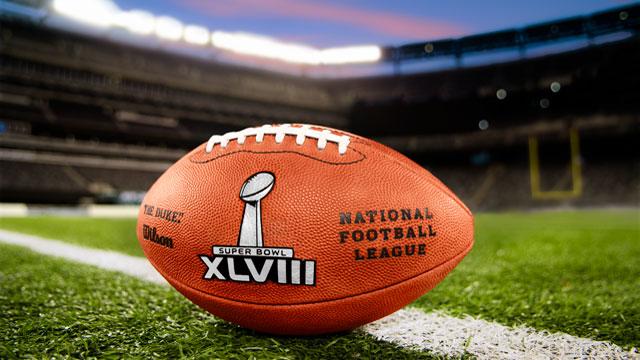 The Super Bowl XLVIII footballs in MetLife Stadium. (Photo: NFL)