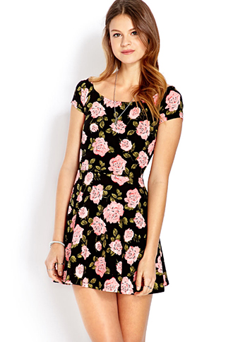 Darling Rose Skater Dress $11.80 (Photo: Forever21)