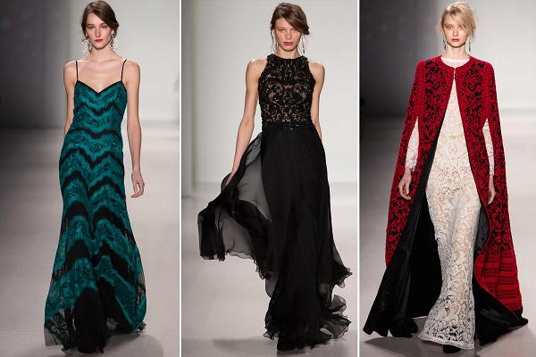 Tadashi Shoji designs on the runway at NYFW 2014 (Photo: CNBC.com)