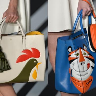 Anya Hindmarch handbags at LFW (Photo: UK Telegraph)