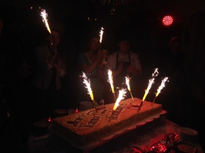 Huge cake! And this only its first year! (Photo: Richard Barry/DC on Heels)