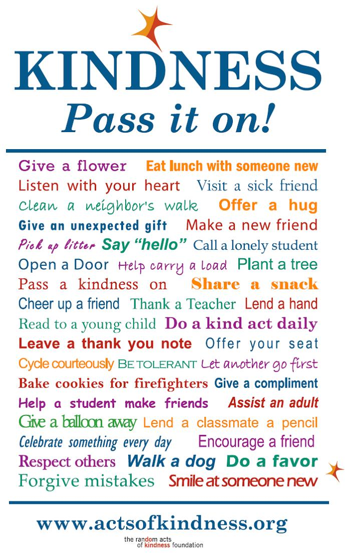 Kindness - Pass It On! (Graphic: actsofkindness.org)