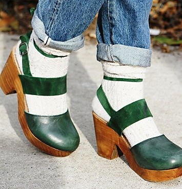 Free People Belmont Leather Clog in Emerald, $128 (Photo: Free People)