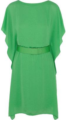 Halston Heritage belted satin-crepe dress, $395 (Photo: NET-A-PORTER)