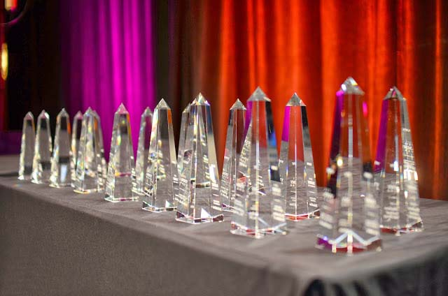 Rammy Awards line a table waiting to be presented. (Photo: Gearshift TV)