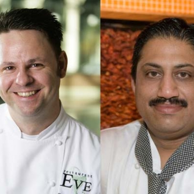 Chefs Cathel Armstrong of Restaurant Eve (left) and Vikram Sunderam of Rasika. (Photos: Star Chefs and Gourmet India)