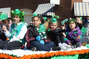 Girl Scouts in the 2013 Manassas St. Patrick's Day parade. (Photo: Manassas St. Patrick's Day parade)