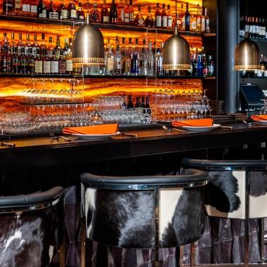 Cattle chic chairs upholstered with bovine hide (Photo: Toro Toro)