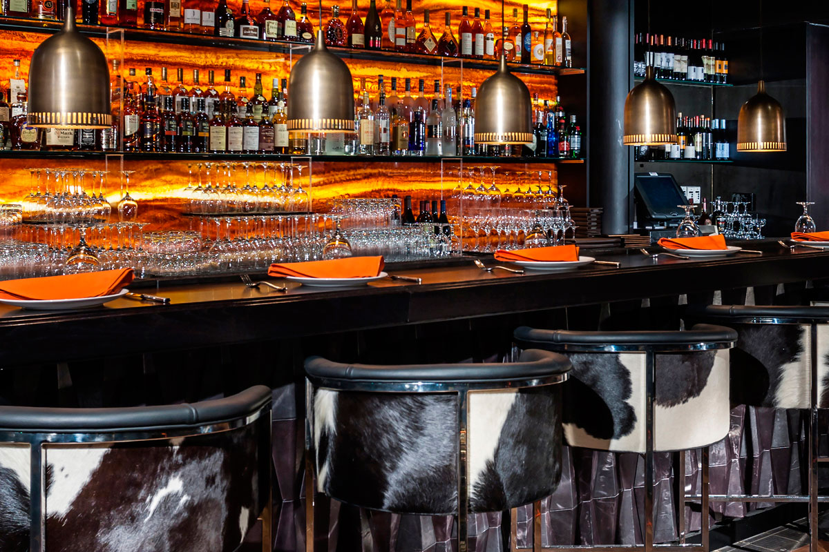 Cattle chic chairs upholstered with bovine hide (Photo: Toro Toro)