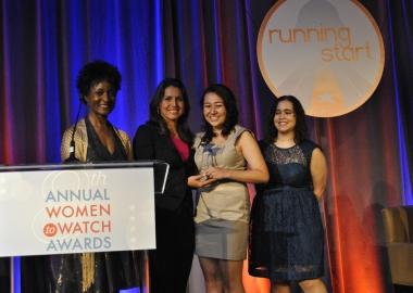 Rep. Tulsi Gabbard (D-Hawaii) presents Brittany Amano, 16, with the Emerging Young Leader Award. (Photo: Tulsi Gabbard)