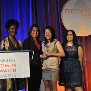 Rep. Tulsi Gabbard (D-Hawaii) presents Brittany Amano, 16, with the Emerging Young Leader Award. (Photo: Tulsi Gabbard)