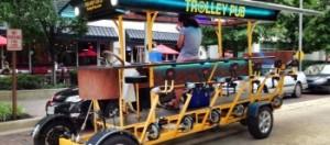 Arlington's Trolley Pub transports bar hoppers by their own locomotion (Photo: Trolley Pub)