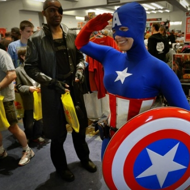 Captain America visits the 2013 Awesome Con. (Photo: Washington Post)