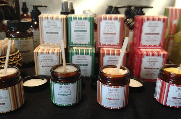 Shea Terra's Argan, Zafron & Camel's Milk Brightening Lait Crème. (Photo: Lia Phipps/DC on Heels)