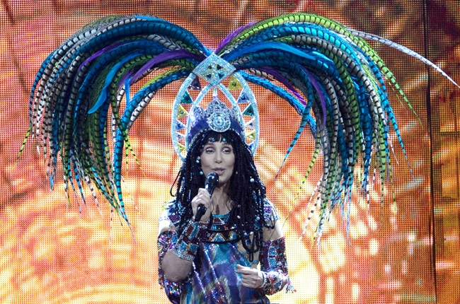 Cher in a pharoh outfit for her opening song in the D2K tour, <em>Women's World</em>. (Photo: cherstyle.com)