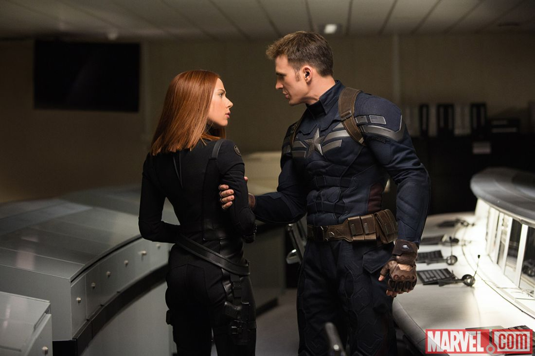 "Scarlett Johnansson and Chris Evans in ""Captain America: The Winter Soldier."" (Photo: Disney Entertainment)"