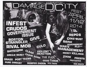 Damaged DC Fest hardcore punk rock festival is this weekend. (Photo: Damaged DC Fest)