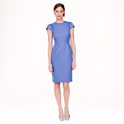 Puffed sleeves and a fun, bright color make this dress a great choice for a first date. (Photo: JCrew)