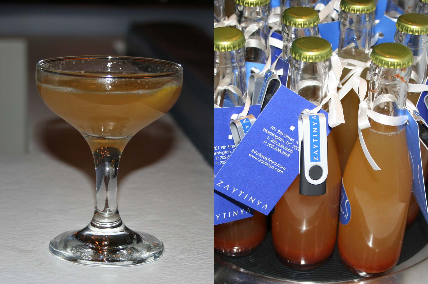 Greek Easter drinks include  the Mellow Yiayia (left) and non-alcoholic baklava soda. (Photos: Mark Heckathorn/DC on Heels)