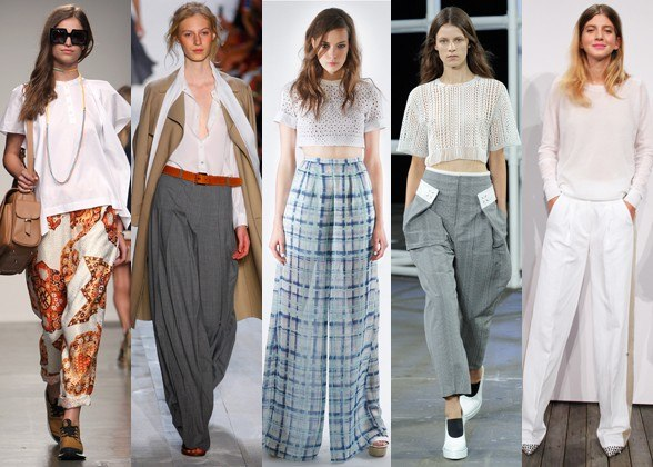 Wide-leg trousers on the runway for Spring 2014 (Photo: InStyle)