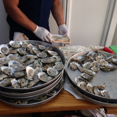 Oysters piled high at Hank's Oyster Bar's 7th annual oyster fest (Photo: Richard Barry/DC on Heels)