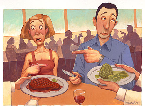 Don't leave your date having to order the side dishes! (Illustration: Jon Keegan)