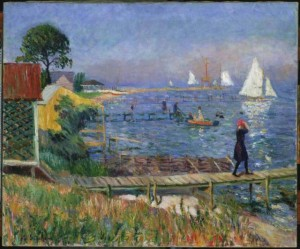 """Bathers at Bellport"" by William Glackens (1912) is part of The Phillips Collection's ""Made in the USA"" exhibit. (Photo: William Glackens/The Phillips Collection)"