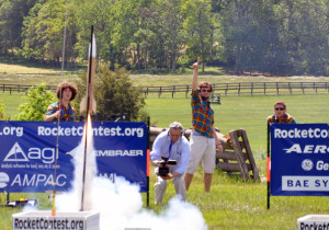 Participants in last years Team America Rocketry Challenge launch a rocket. (Photo: Aerospace Industries Association)