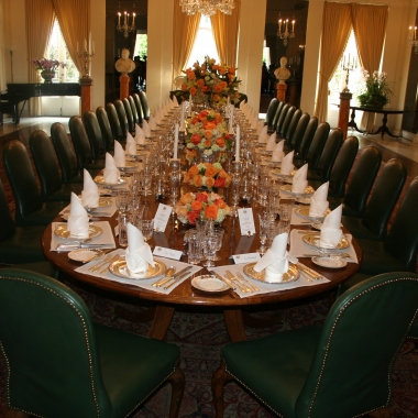 The state dining room at the British Embassy. (Photo: Mark Heckathorn/DC on Heels)