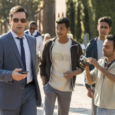 Jon Hamm (left to right), Madhur Mittal, Suraj Sharma and Pitobash star in