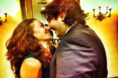 Kara Scott and Giovanni Rizzo (Photo: Poker News)