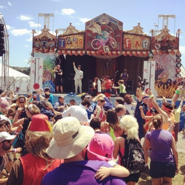 Tour de Fat fills two stages and a tent with a variety of offbeat performances. (Photo: New Belgium Brewing Co.)