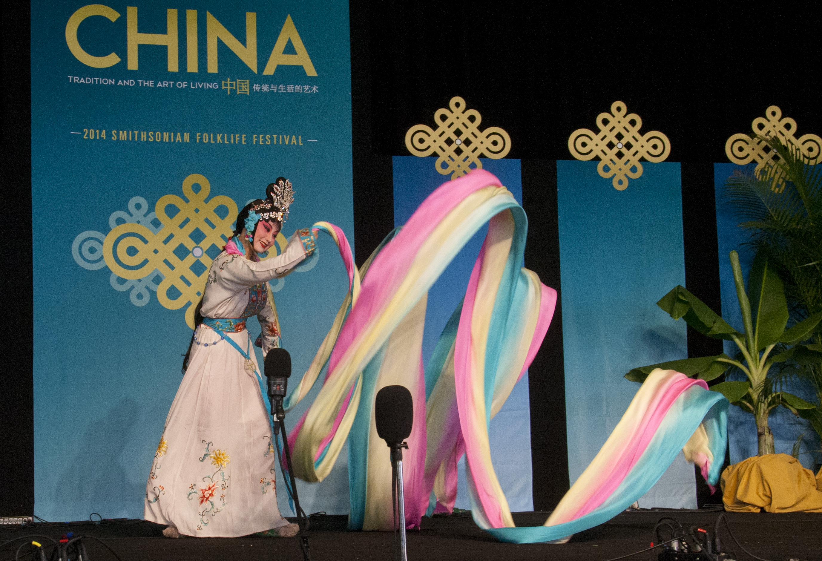 A singer with the Zhejiang Wu Opera Troupe performs at the Folklife Festival on Thursday. (Photo: smata2/flickr)