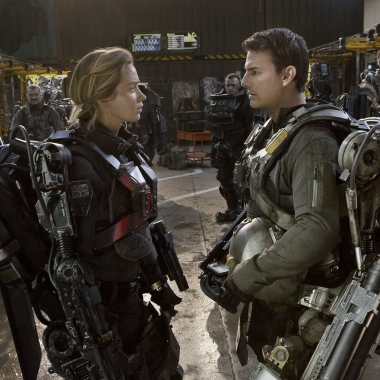Emily Blunt (left) and Tom Cruise as in