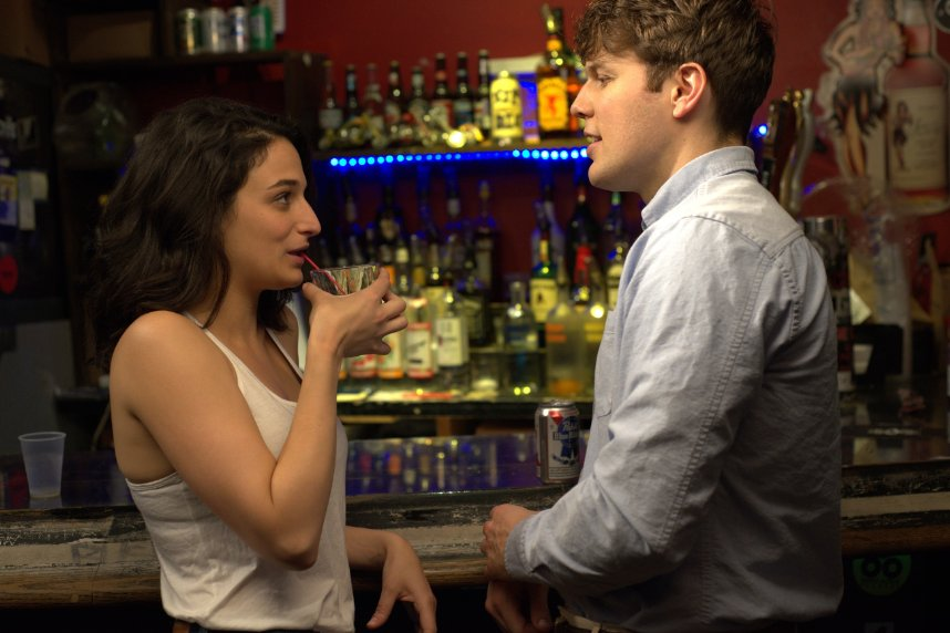 "Donna (Jenny Slate), a foulmouthed, self-absorbed but ultimately charming comic, considers an abortion after hooking up with Max (Jake Lacy) in ""Obvious Child."" (Photo: A24)"