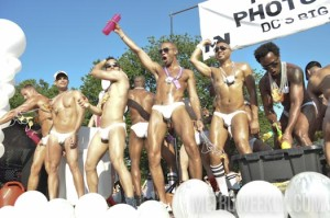 Models in only their underwear ride on a float in the 2013 Capital Pride Parade. (Photo: Metro Weekly)
