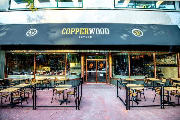 Copperwood Tavern welcomes dogs outside the patio. (Photo: O'Neill Studios)